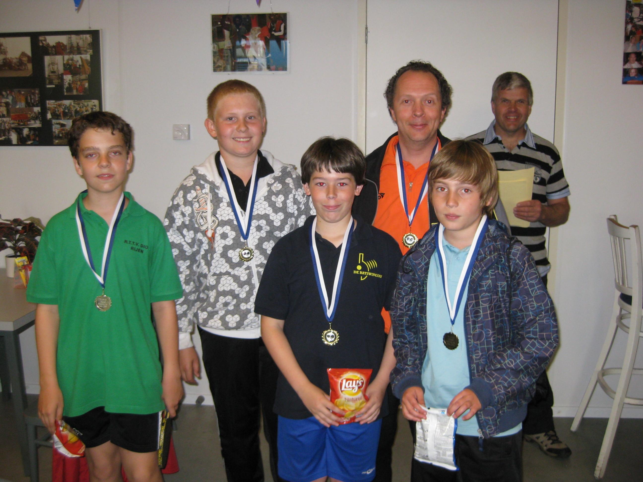 winnende team op jeugddag 2010